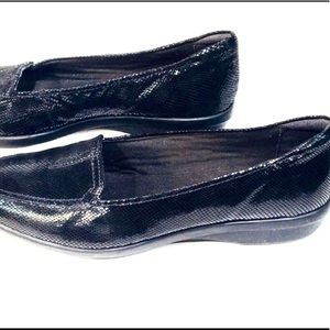 Clarks Shoes - Clark's Black Sparkling Leather Loafers